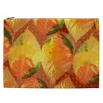 Fall Colors Leaves Pattern Cosmetic Bag (XXL)  Front