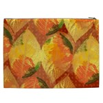 Fall Colors Leaves Pattern Cosmetic Bag (XXL)  Back