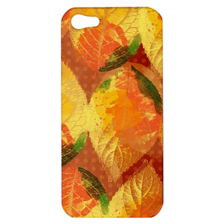 Fall Colors Leaves Pattern Apple iPhone 5 Hardshell Case
