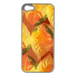 Fall Colors Leaves Pattern Apple iPhone 5 Case (Silver) Front