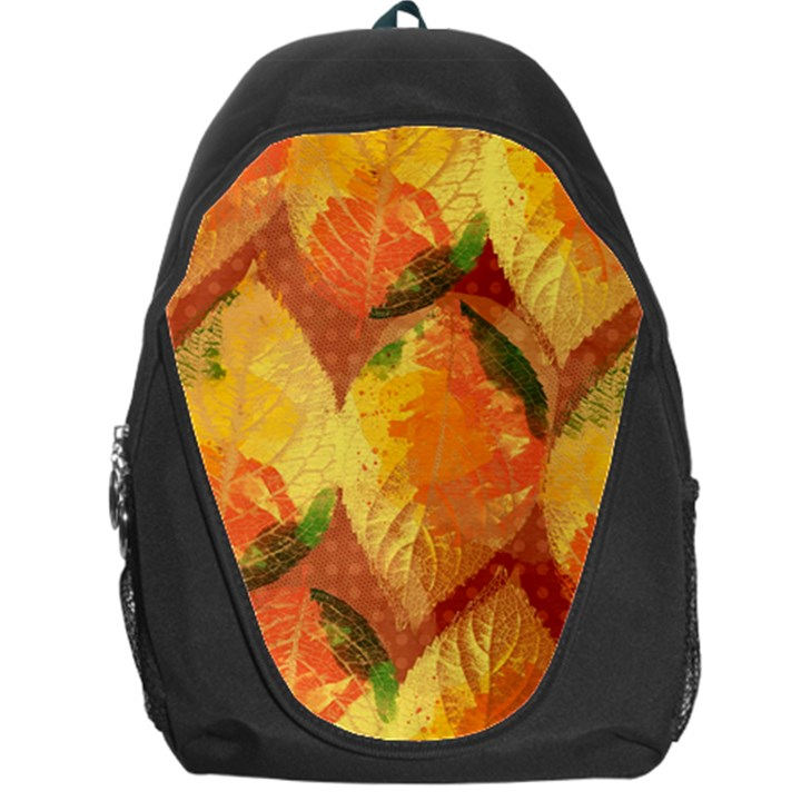 Fall Colors Leaves Pattern Backpack Bag