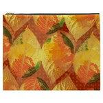 Fall Colors Leaves Pattern Cosmetic Bag (XXXL)  Front