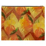 Fall Colors Leaves Pattern Cosmetic Bag (XXXL)  Back