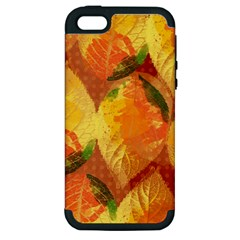 Fall Colors Leaves Pattern Apple iPhone 5 Hardshell Case (PC+Silicone)