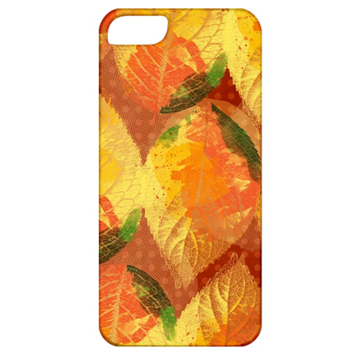 Fall Colors Leaves Pattern Apple iPhone 5 Classic Hardshell Case