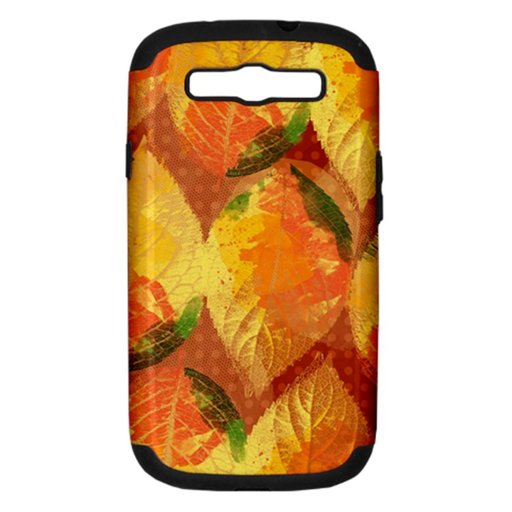Fall Colors Leaves Pattern Samsung Galaxy S III Hardshell Case (PC+Silicone)