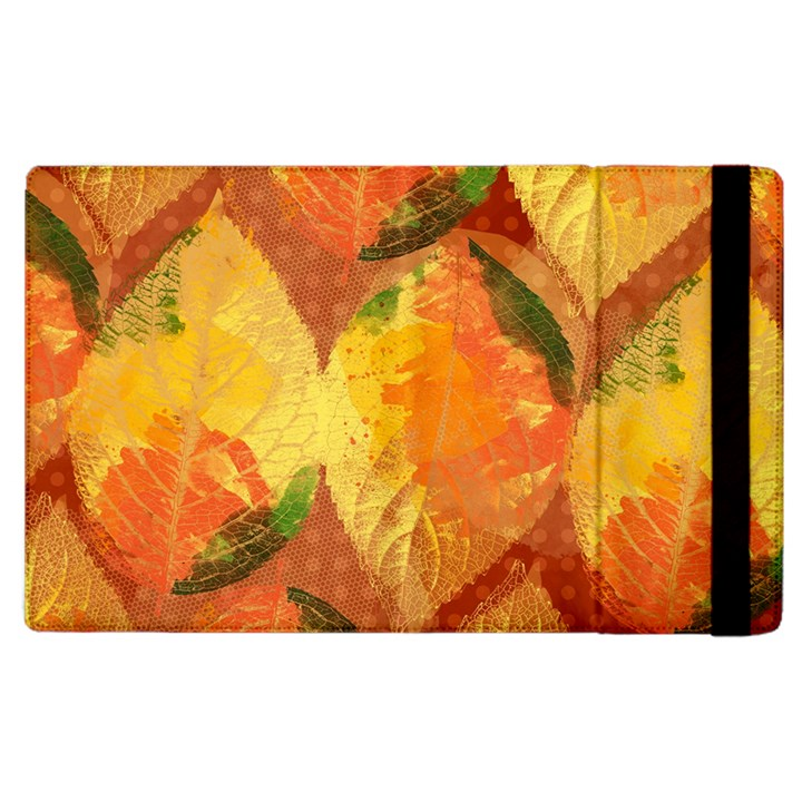 Fall Colors Leaves Pattern Apple iPad 2 Flip Case