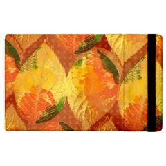 Fall Colors Leaves Pattern Apple Ipad 3/4 Flip Case