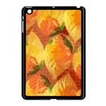 Fall Colors Leaves Pattern Apple iPad Mini Case (Black) Front