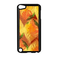 Fall Colors Leaves Pattern Apple iPod Touch 5 Case (Black)