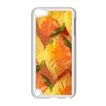 Fall Colors Leaves Pattern Apple iPod Touch 5 Case (White) Front