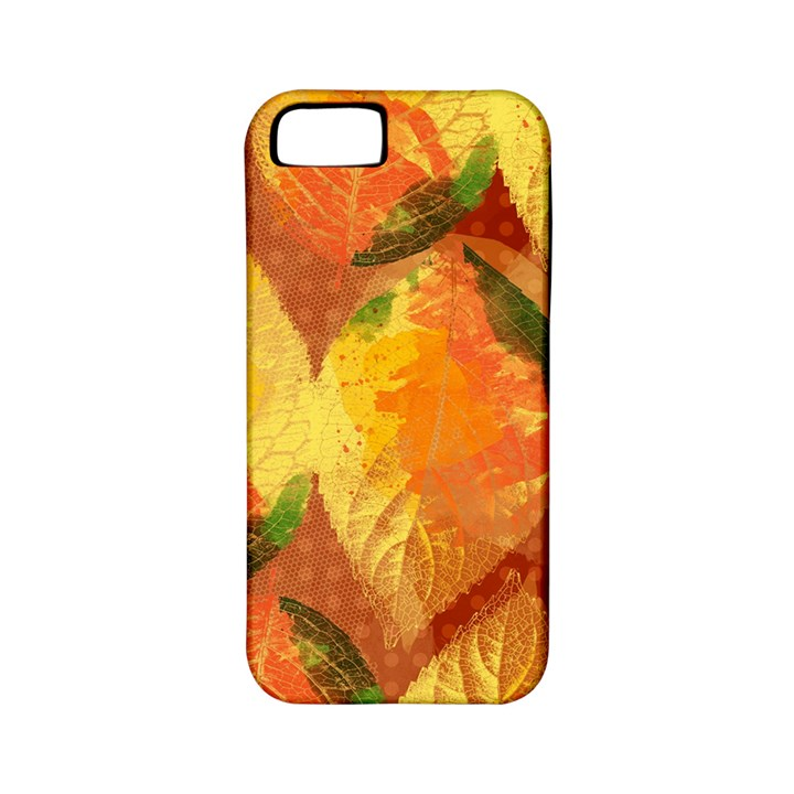 Fall Colors Leaves Pattern Apple iPhone 5 Classic Hardshell Case (PC+Silicone)