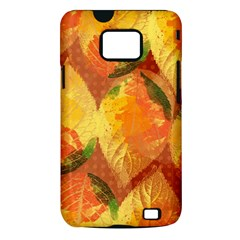 Fall Colors Leaves Pattern Samsung Galaxy S II i9100 Hardshell Case (PC+Silicone)