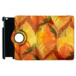 Fall Colors Leaves Pattern Apple iPad 2 Flip 360 Case Front