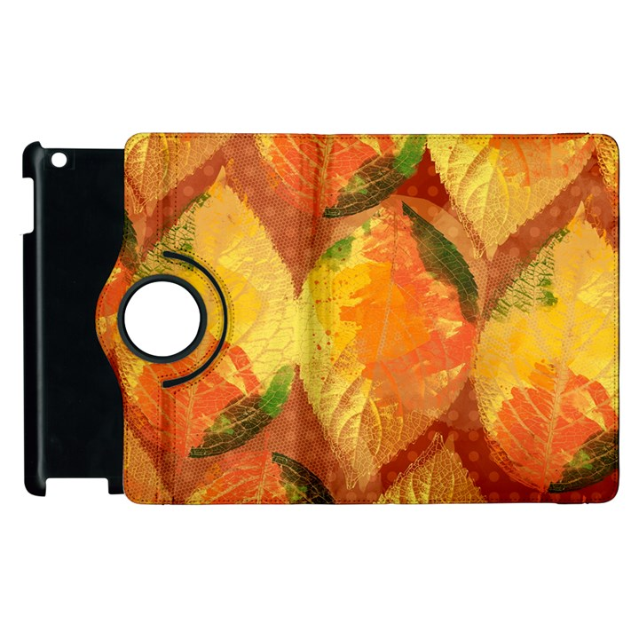 Fall Colors Leaves Pattern Apple iPad 2 Flip 360 Case