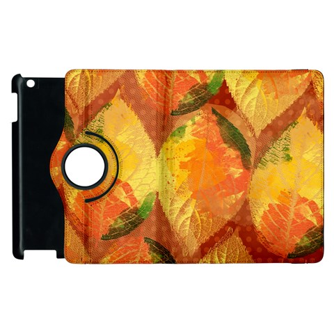 Fall Colors Leaves Pattern Apple iPad 3/4 Flip 360 Case