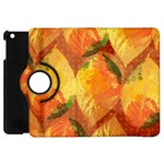 Fall Colors Leaves Pattern Apple iPad Mini Flip 360 Case Front