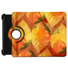 Fall Colors Leaves Pattern Kindle Fire Hd Flip 360 Case