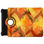 Fall Colors Leaves Pattern Kindle Fire HD Flip 360 Case Front