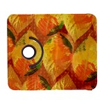 Fall Colors Leaves Pattern Samsung Galaxy S  III Flip 360 Case Front