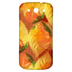 Fall Colors Leaves Pattern Samsung Galaxy S3 S III Classic Hardshell Back Case