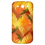 Fall Colors Leaves Pattern Samsung Galaxy S3 S III Classic Hardshell Back Case Front
