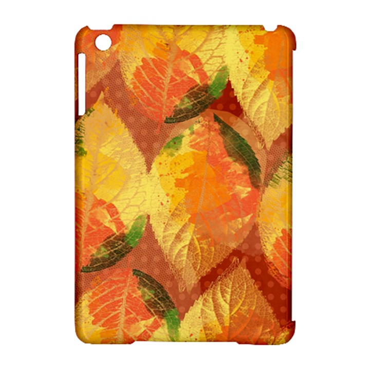 Fall Colors Leaves Pattern Apple iPad Mini Hardshell Case (Compatible with Smart Cover)