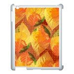 Fall Colors Leaves Pattern Apple iPad 3/4 Case (White) Front