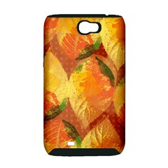 Fall Colors Leaves Pattern Samsung Galaxy Note 2 Hardshell Case (PC+Silicone)