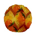 Fall Colors Leaves Pattern Standard 15  Premium Round Cushions Back