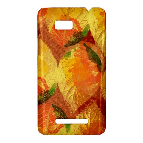 Fall Colors Leaves Pattern HTC One SU T528W Hardshell Case