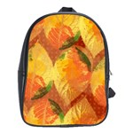 Fall Colors Leaves Pattern School Bags (XL)  Front