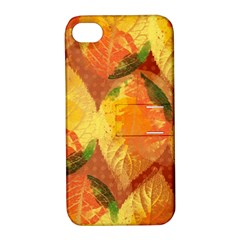 Fall Colors Leaves Pattern Apple iPhone 4/4S Hardshell Case with Stand