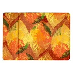 Fall Colors Leaves Pattern Samsung Galaxy Tab 10.1  P7500 Flip Case