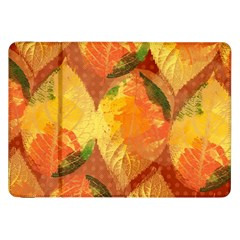 Fall Colors Leaves Pattern Samsung Galaxy Tab 8.9  P7300 Flip Case