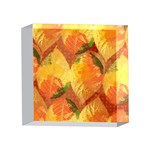 Fall Colors Leaves Pattern 4 x 4  Acrylic Photo Blocks Front