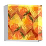 Fall Colors Leaves Pattern 5  x 5  Acrylic Photo Blocks Front