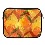 Fall Colors Leaves Pattern Apple iPad 2/3/4 Zipper Cases Front