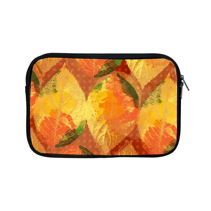 Fall Colors Leaves Pattern Apple iPad Mini Zipper Cases