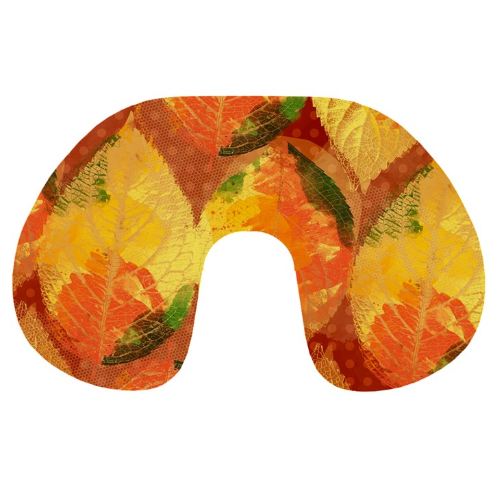 Fall Colors Leaves Pattern Travel Neck Pillows