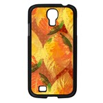 Fall Colors Leaves Pattern Samsung Galaxy S4 I9500/ I9505 Case (Black) Front