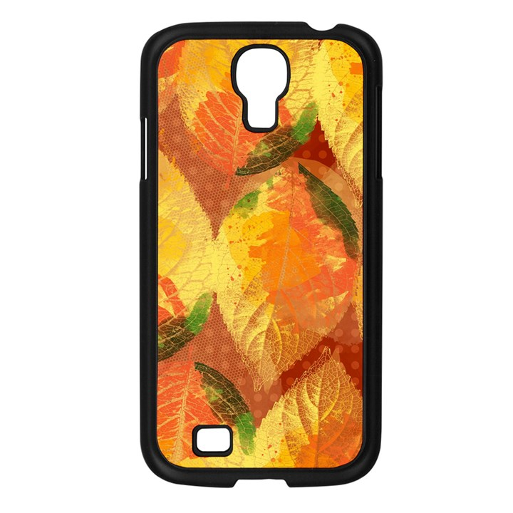 Fall Colors Leaves Pattern Samsung Galaxy S4 I9500/ I9505 Case (Black)