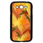 Fall Colors Leaves Pattern Samsung Galaxy Grand DUOS I9082 Case (Black) Front