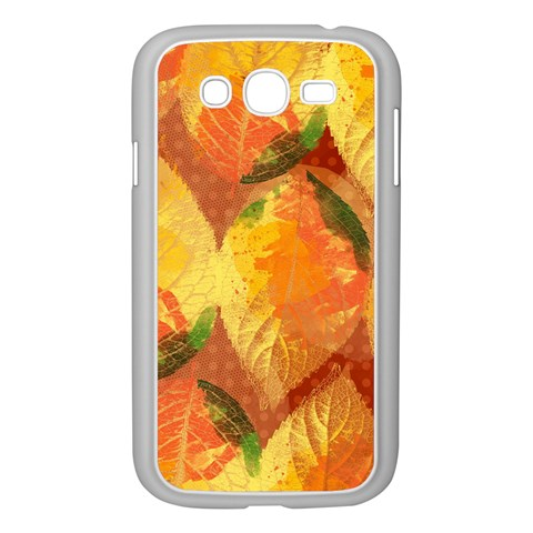 Fall Colors Leaves Pattern Samsung Galaxy Grand DUOS I9082 Case (White)