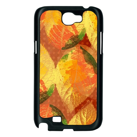 Fall Colors Leaves Pattern Samsung Galaxy Note 2 Case (Black)