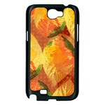 Fall Colors Leaves Pattern Samsung Galaxy Note 2 Case (Black) Front