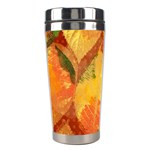 Fall Colors Leaves Pattern Stainless Steel Travel Tumblers Right