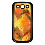 Fall Colors Leaves Pattern Samsung Galaxy S3 Back Case (Black) Front