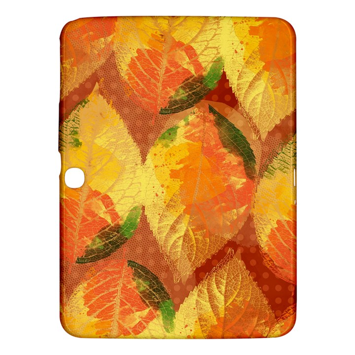Fall Colors Leaves Pattern Samsung Galaxy Tab 3 (10.1 ) P5200 Hardshell Case
