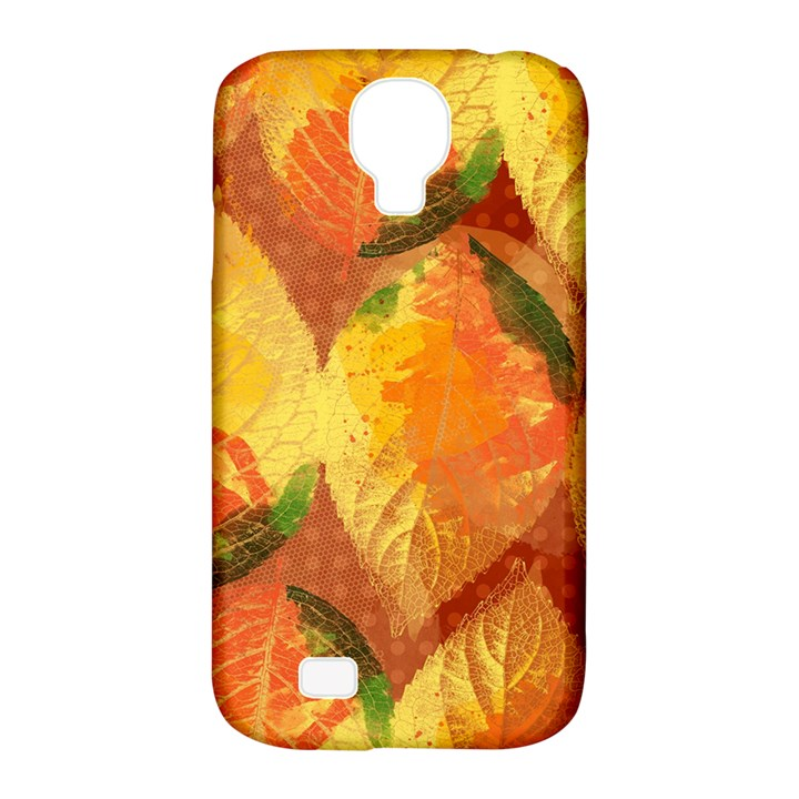 Fall Colors Leaves Pattern Samsung Galaxy S4 Classic Hardshell Case (PC+Silicone)
